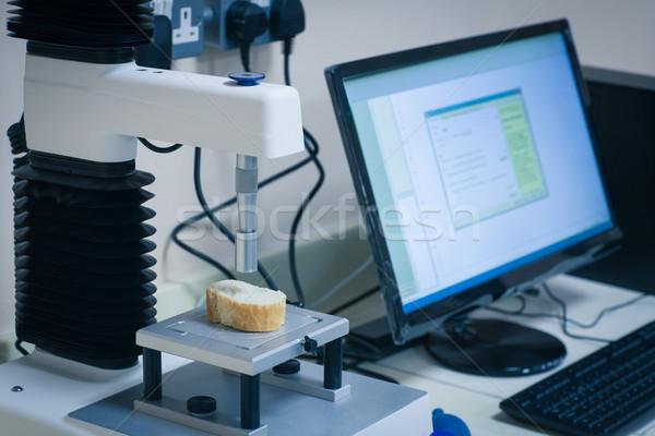 Machine analysing slice of bread with computer Stock photo © wavebreak_media