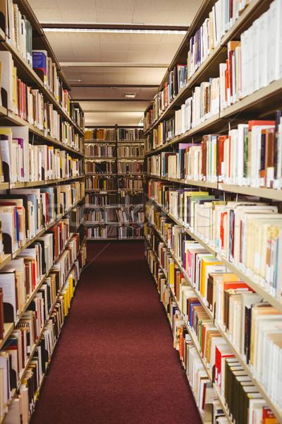 Półka na książki biblioteki książki szkoły edukacji Zdjęcia stock © wavebreak_media