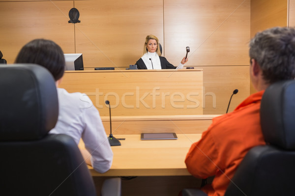 Lawyer and client listening to judge Stock photo © wavebreak_media