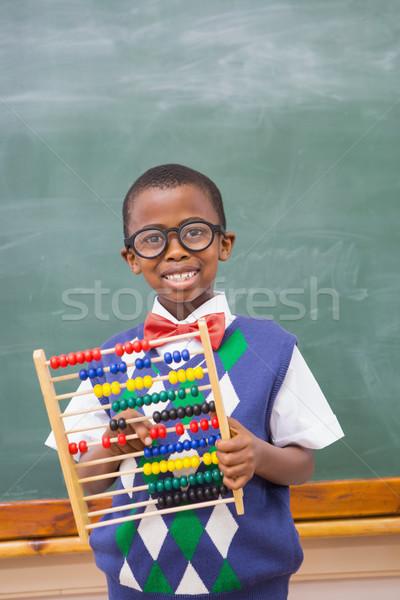Sorridente ábaco escola primária feliz criança Foto stock © wavebreak_media