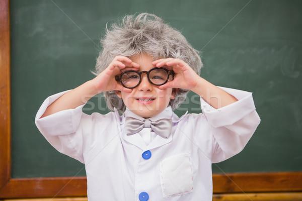 Visel szemüveg általános iskola gyermek fiú osztály Stock fotó © wavebreak_media