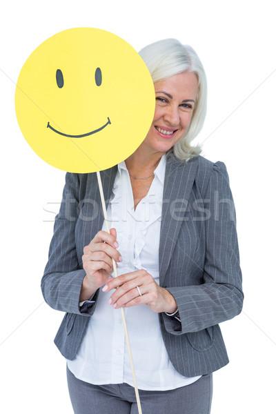 女性実業家 幸せ 笑顔 白 女性 ストックフォト © wavebreak_media