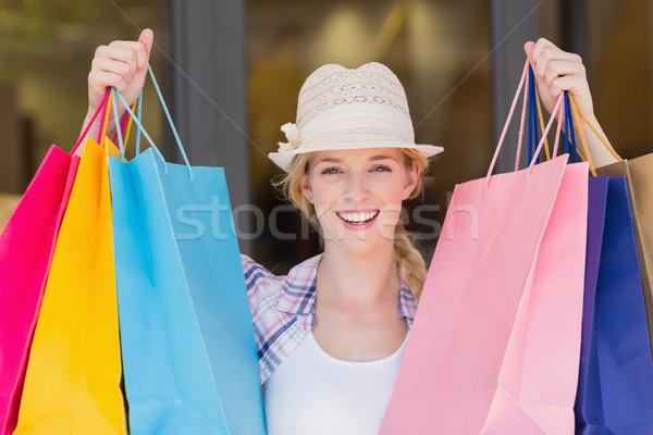 Energiczny kobieta portret hat kobiet Zdjęcia stock © wavebreak_media