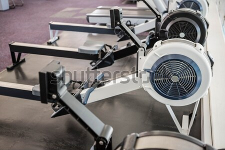 Exercise room with shutters and mirrors Stock photo © wavebreak_media