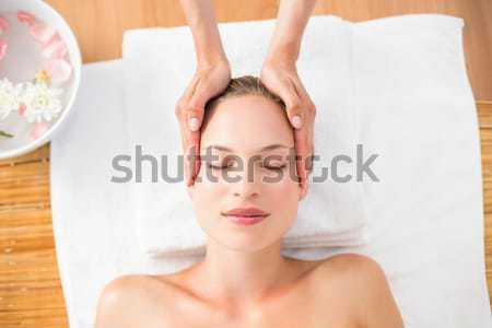 Vonzó nő fej masszázs fürdő központ magasról fotózva Stock fotó © wavebreak_media