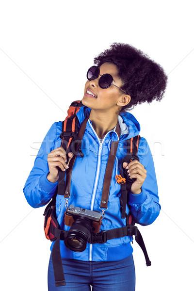 Turista hátizsák kamera fehér utazás táska Stock fotó © wavebreak_media