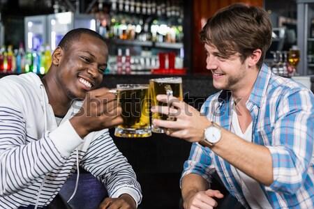 Portré boldog pár pult étterem üzlet Stock fotó © wavebreak_media