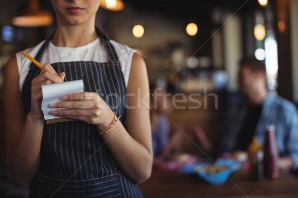 официантка порядка ресторан женщину Сток-фото © wavebreak_media