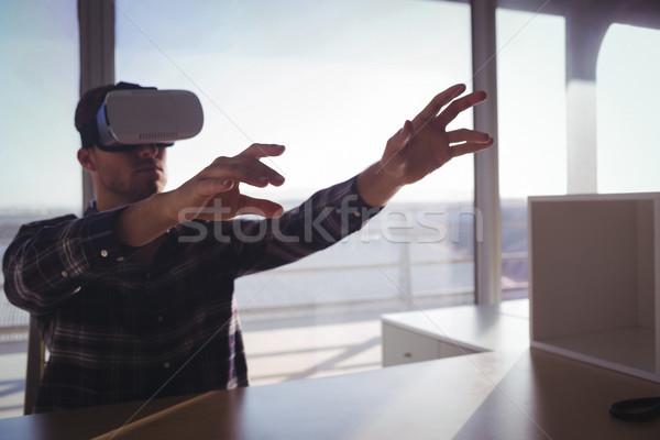 テスト バーチャル 現実 技術 オフィス ストックフォト © wavebreak_media