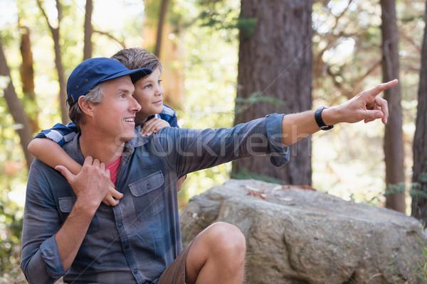 Padre qualcosa singolare ragazzo escursioni Foto d'archivio © wavebreak_media