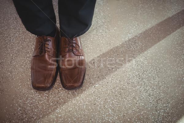 низкий исполнительного расслабляющая служба синий Сток-фото © wavebreak_media