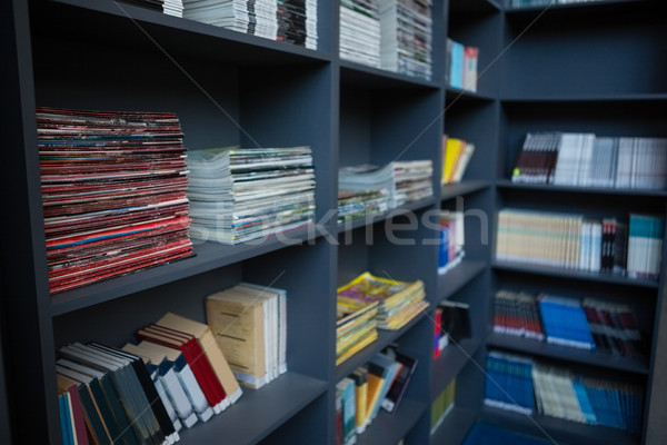 Close up of books arranged on shelves Stock photo © wavebreak_media