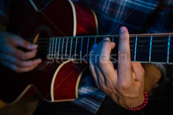 Foto stock: Músico · jogar · guitarra · etapa · boate