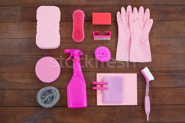 Roze kleur schoonmaken uitrusting home Stockfoto © wavebreak_media