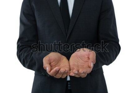 Mid section of businessman with hands cupped Stock photo © wavebreak_media