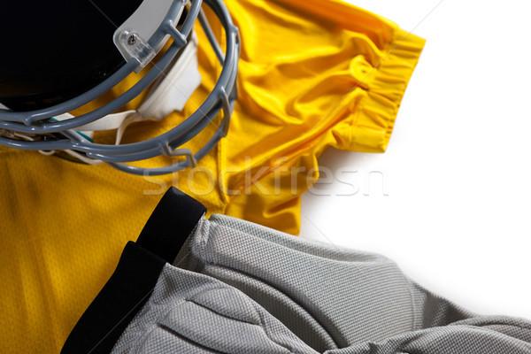 Spor kask beyaz spor kırmızı Stok fotoğraf © wavebreak_media