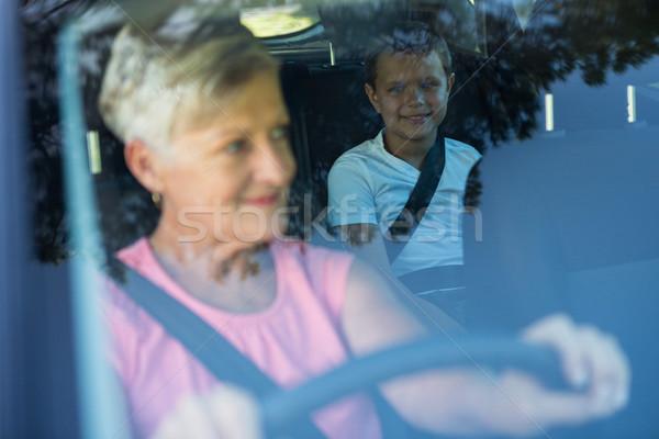 Avó condução carro neto sessão de volta Foto stock © wavebreak_media