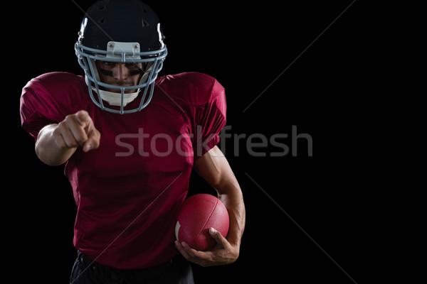 Foto stock: Americano · futbolista · senalando · pelota · otro