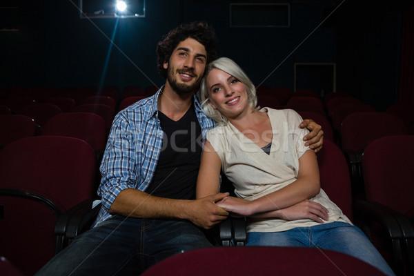 Gelukkig paar kijken film theater man Stockfoto © wavebreak_media