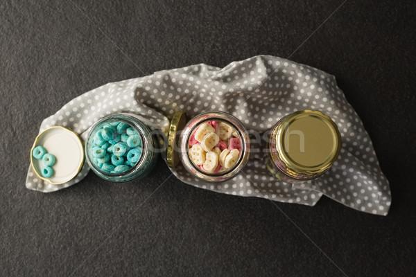 üç kahvaltı siyah uygunluk cam Stok fotoğraf © wavebreak_media