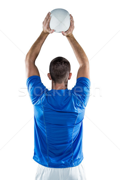 背面図 スポーツ プレーヤー ボール 白 ストックフォト © wavebreak_media