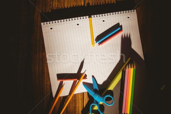 школьные принадлежности столе копия пространства выстрел студию школы Сток-фото © wavebreak_media