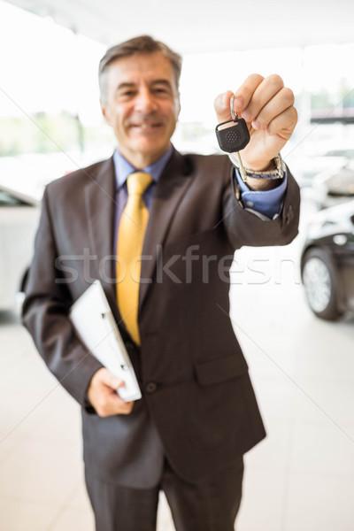 男性 ドライバ キー 買い 新しい車 ストックフォト © wavebreak_media