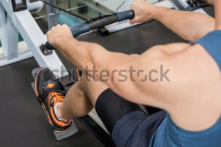 Cropped image of male trainer assisting fit woman  Stock photo © wavebreak_media