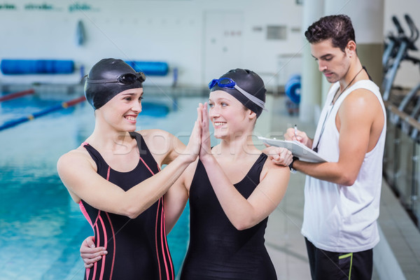 笑みを浮かべて 高い レジャー センター 女性 水 ストックフォト © wavebreak_media