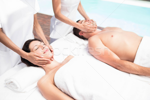 Paar gezicht massage masseur spa vrouw Stockfoto © wavebreak_media