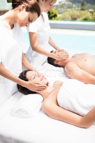 пару лице массаж массажист Spa женщину Сток-фото © wavebreak_media