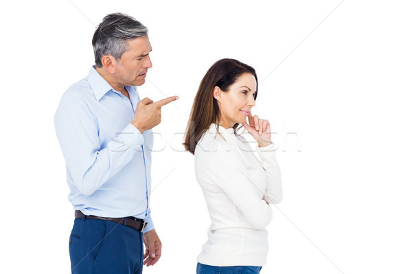 Stock photo: Couple arguing while standing