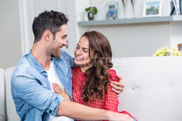 Smiling couple embracing  Stock photo © wavebreak_media