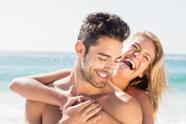 подруга дружок пляж счастливым морем Сток-фото © wavebreak_media