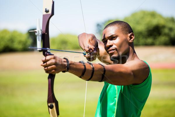 Athlete practicing archery Stock photo © wavebreak_media