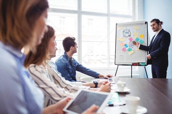Coworkers looking at businessman giving presentation Stock photo © wavebreak_media
