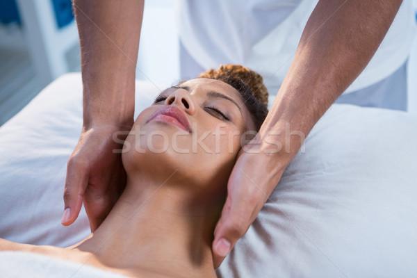 женщину шее массаж ребенка человека женщины Сток-фото © wavebreak_media