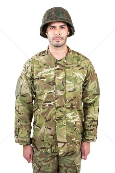 Asker ayakta beyaz portre adam savaş Stok fotoğraf © wavebreak_media
