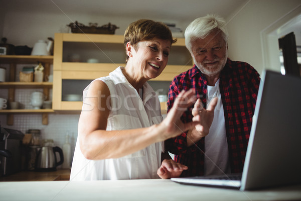 Senior couple using laptop Stock photo © wavebreak_media
