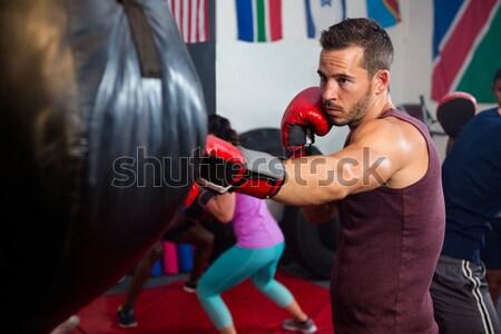 Boxeralsó harcol box gyűrű aréna férfi Stock fotó © wavebreak_media