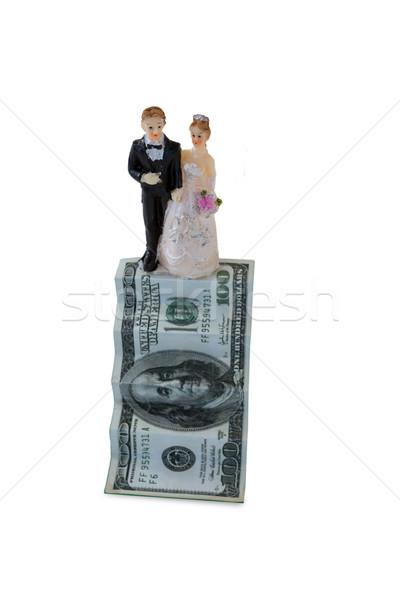 Esküvő pár dollár bankjegy fehér pénz Stock fotó © wavebreak_media
