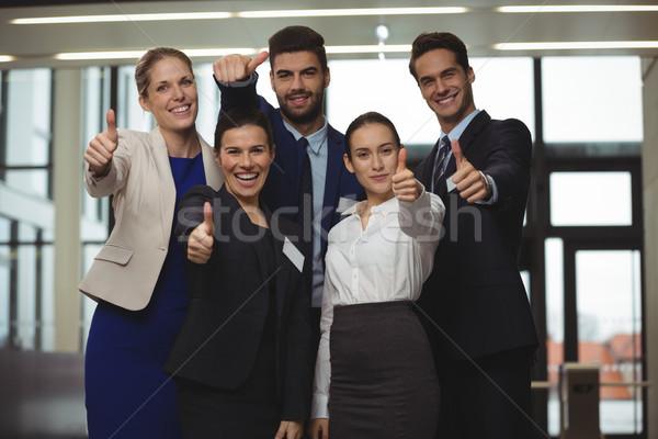 успешный большой палец руки вверх знак Сток-фото © wavebreak_media