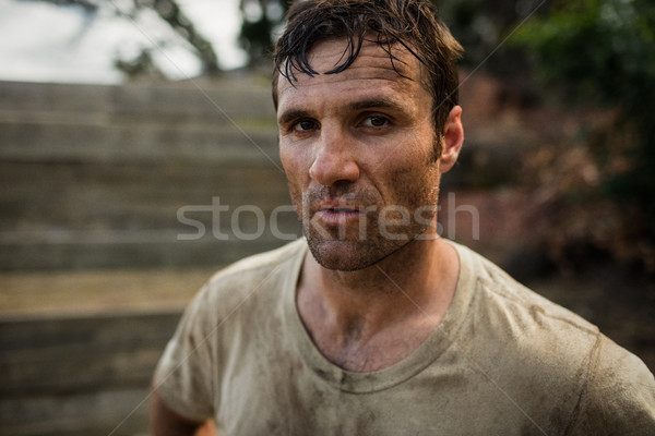 Retrato soldado guapo hombre fitness deportes Foto stock © wavebreak_media