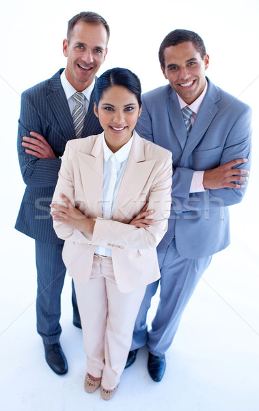 High angle of smiling business people Stock photo © wavebreak_media