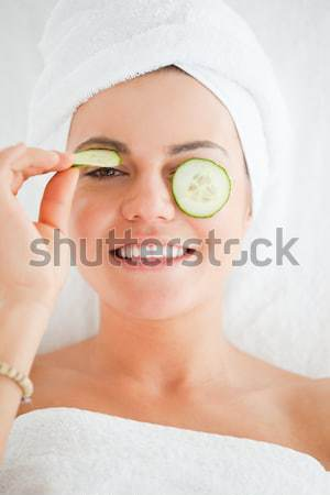 Femme détente bain spa centre Photo stock © wavebreak_media