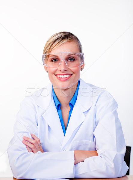 Portrait of a female scientist looking at the camera Stock photo © wavebreak_media