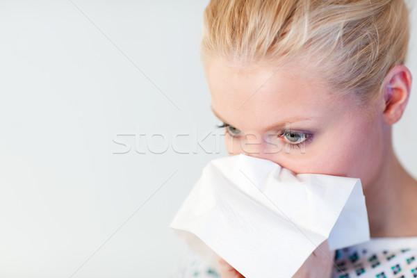 Patient grippe jeunes hôpital visage femmes Photo stock © wavebreak_media