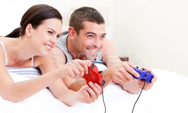 United couple playing video games Stock photo © wavebreak_media