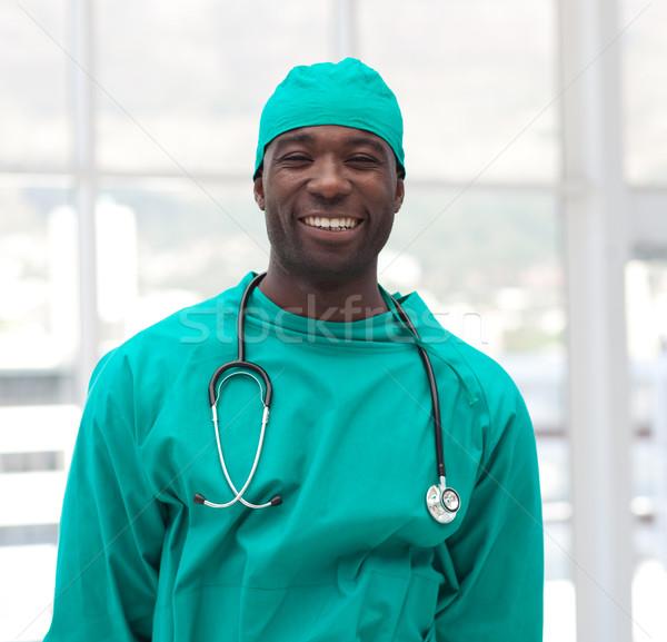 Portret glimlachend arts groene ziekenhuis Stockfoto © wavebreak_media