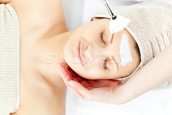 Beautiful relaxed woman receiving a beauty treatment in a spa center Stock photo © wavebreak_media